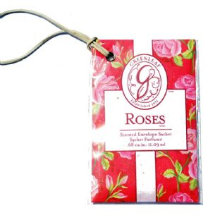GREENLEAF SCENTED ENVELOPE CAR SACHET ROSES